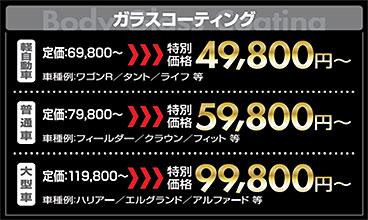 ボディコーティング価格